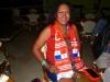 Unsere Reiseleiterin Vanessa im Fussballfieber. Leider hat Panama knapp gegen USA verloren