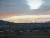 El Chaltén mit dem Fitzroymassiv am frühen Morgen