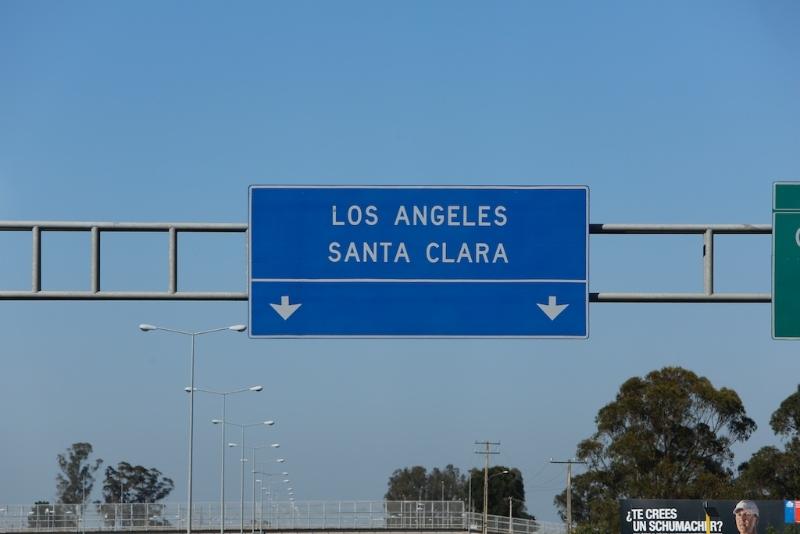 Los Angeles auf dem Weg nach Pucon ? ( Chile ) Rechts unten - Schumi !