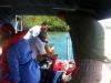 unser Boot wird betankt
